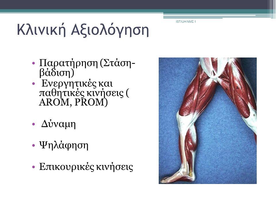 Κλινική Αξιολόγηση Παρατήρηση (Στάση- βάδιση)