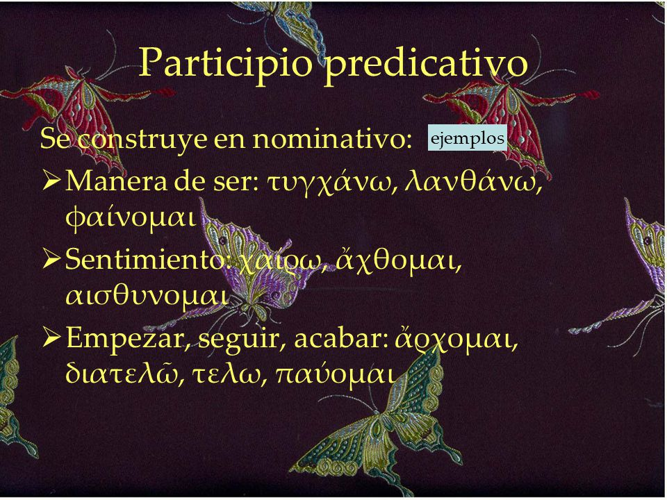 Participio predicativo