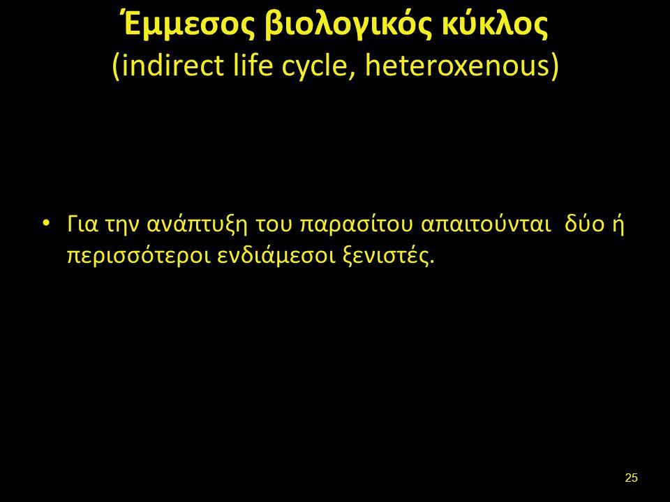 Μολύνον στάδιο (ή μολύνουσα μορφή) παρασίτου (infective stage of parasite) (1 από 2)