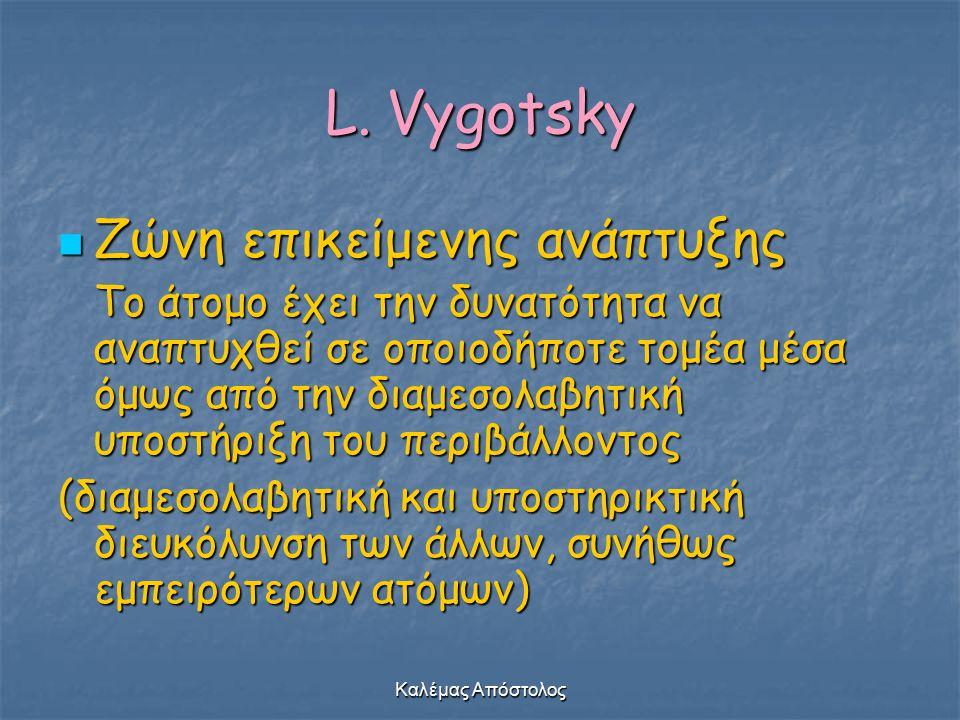 L. Vygotsky Ζώνη επικείμενης ανάπτυξης