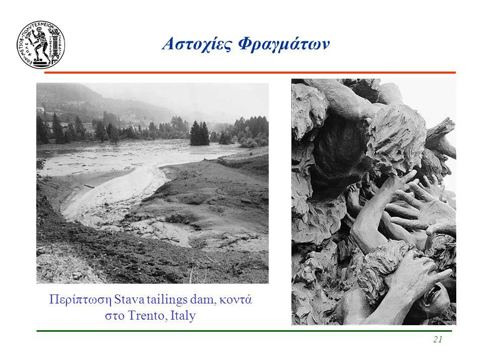 Περίπτωση Stava tailings dam, κοντά στο Trento, Italy