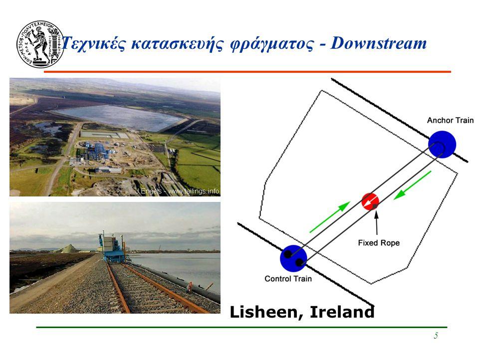 Τεχνικές κατασκευής φράγματος - Downstream