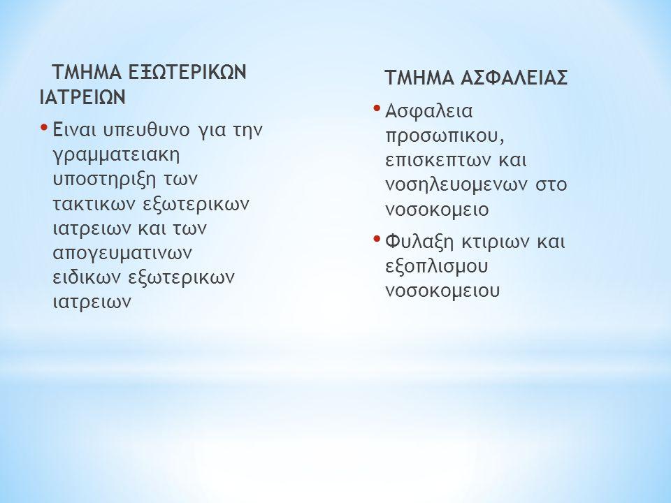ΤΜΗΜΑ ΕΞΩΤΕΡΙΚΩΝ ΙΑΤΡΕΙΩΝ