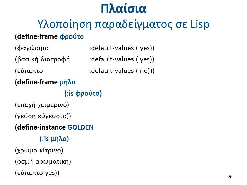 Αντικειμενοστραφές περιβάλλον Common Lisp