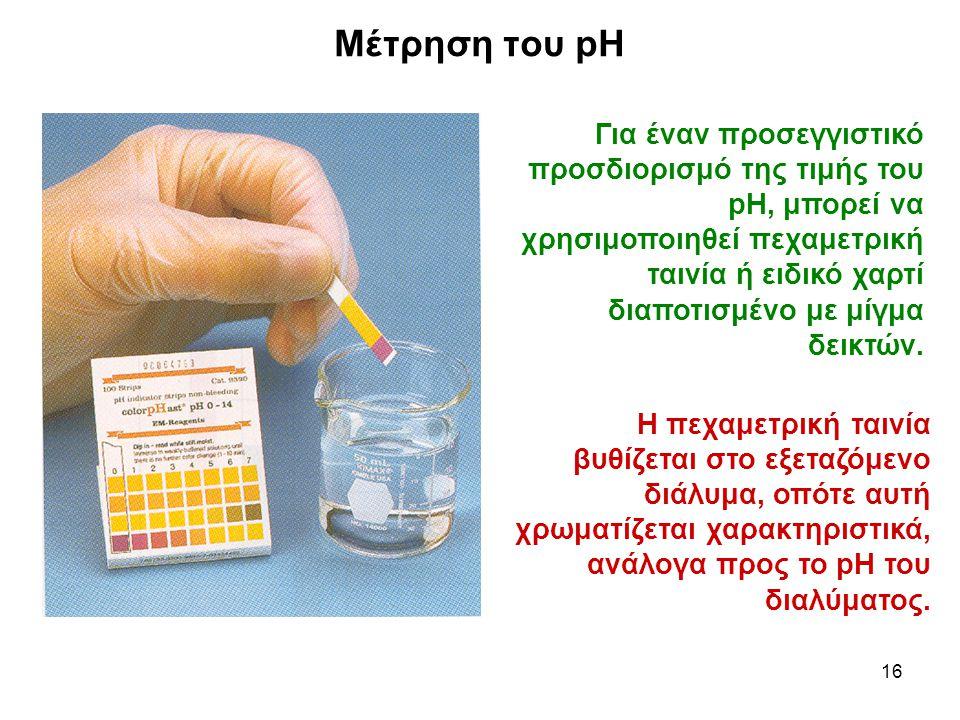 Μέτρηση του pH