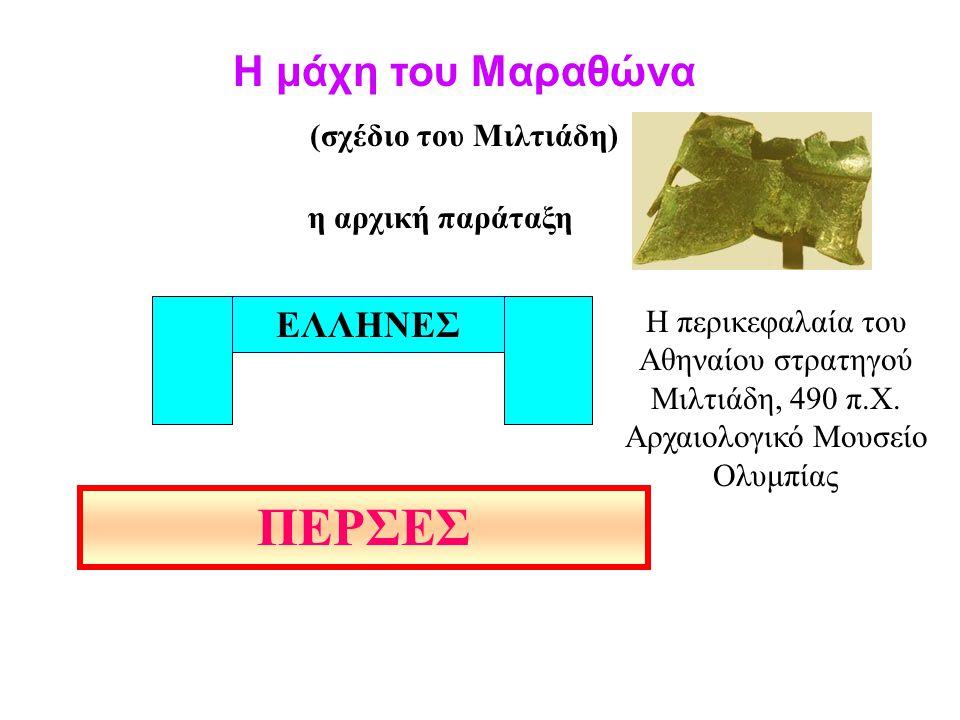 ΠΕΡΣΕΣ Η μάχη του Μαραθώνα ΕΛΛΗΝΕΣ (σχέδιο του Μιλτιάδη)