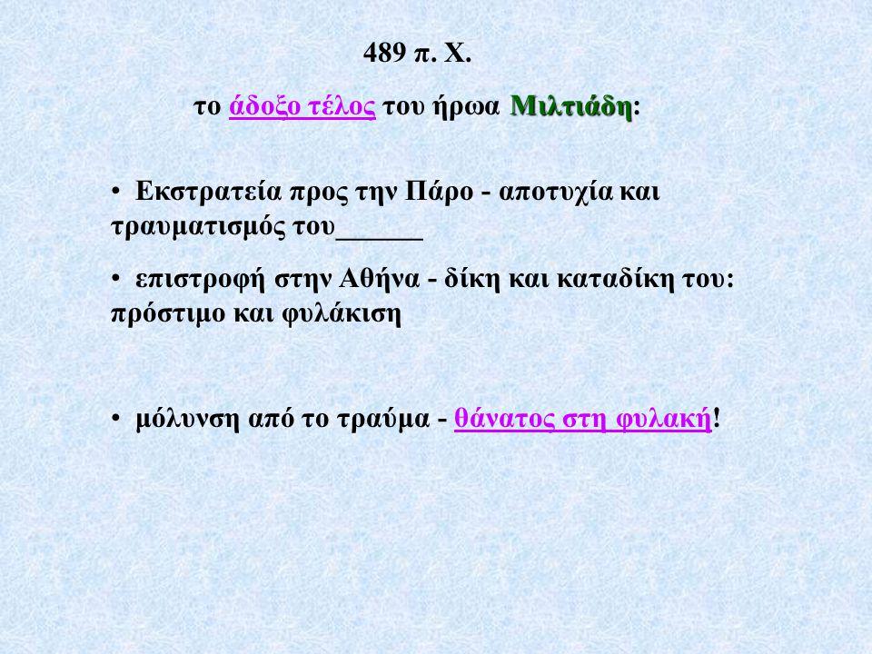 το άδοξο τέλος του ήρωα Μιλτιάδη: