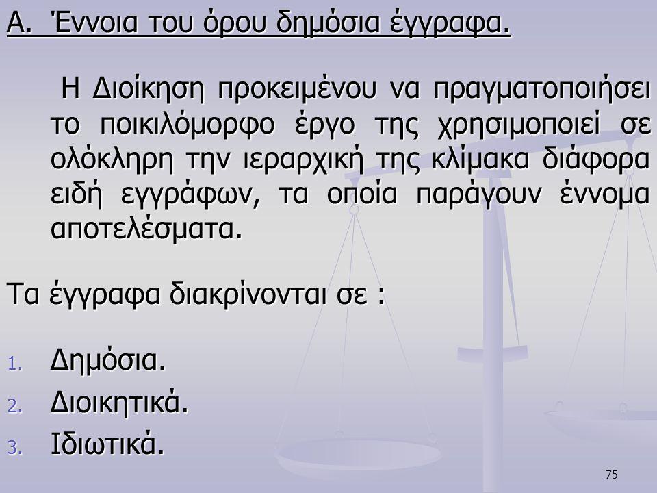 Α. Έννοια του όρου δημόσια έγγραφα.