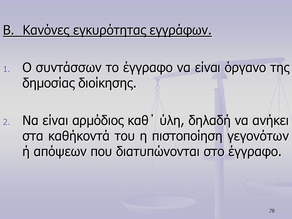 Β. Κανόνες εγκυρότητας εγγράφων.