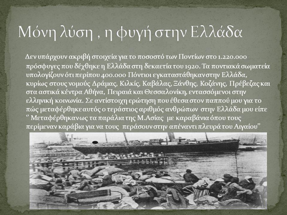 Μόνη λύση , η φυγή στην Ελλάδα