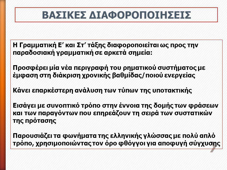 ΒΑΣΙΚΕΣ ΔΙΑΦΟΡΟΠΟΙΗΣΕΙΣ