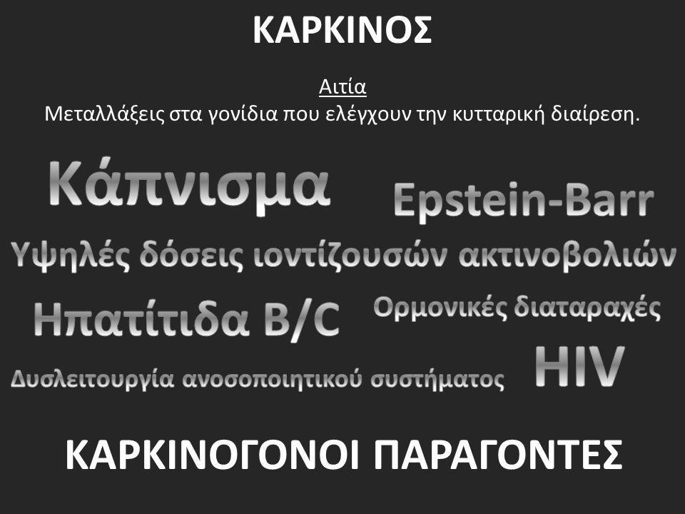 Κάπνισμα HIV Epstein-Barr Ηπατίτιδα B/C ΚΑΡΚΙΝΟΓΟΝΟΙ ΠΑΡΑΓΟΝΤΕΣ