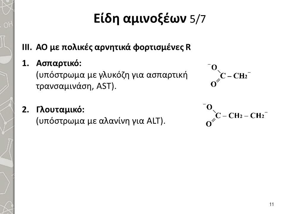 Είδη αμινοξέων 6/7 ΑΟ με πολικές θετικά φορτισμένες R