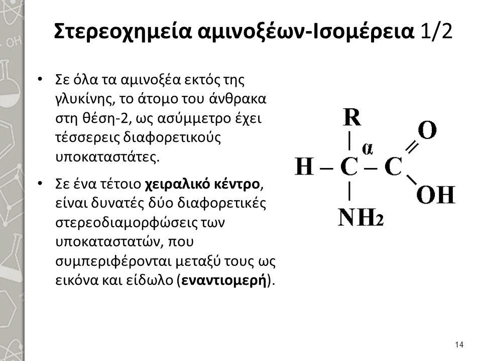 Στερεοχημεία αμινοξέων-Ισομέρεια 2/2