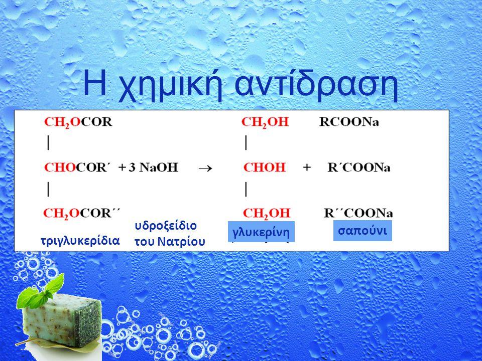 Η χημική αντίδραση υδροξείδιο του Νατρίου γλυκερίνη σαπούνι