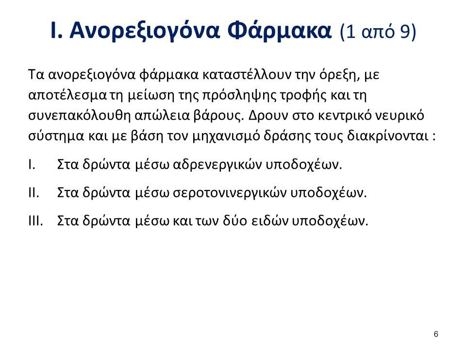 Ι. Ανορεξιογόνα Φάρμακα (2 από 9)