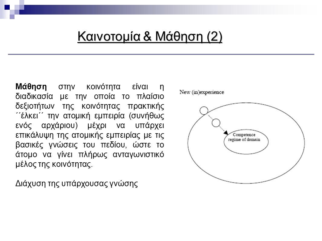 Καινοτομία & Μάθηση (2)