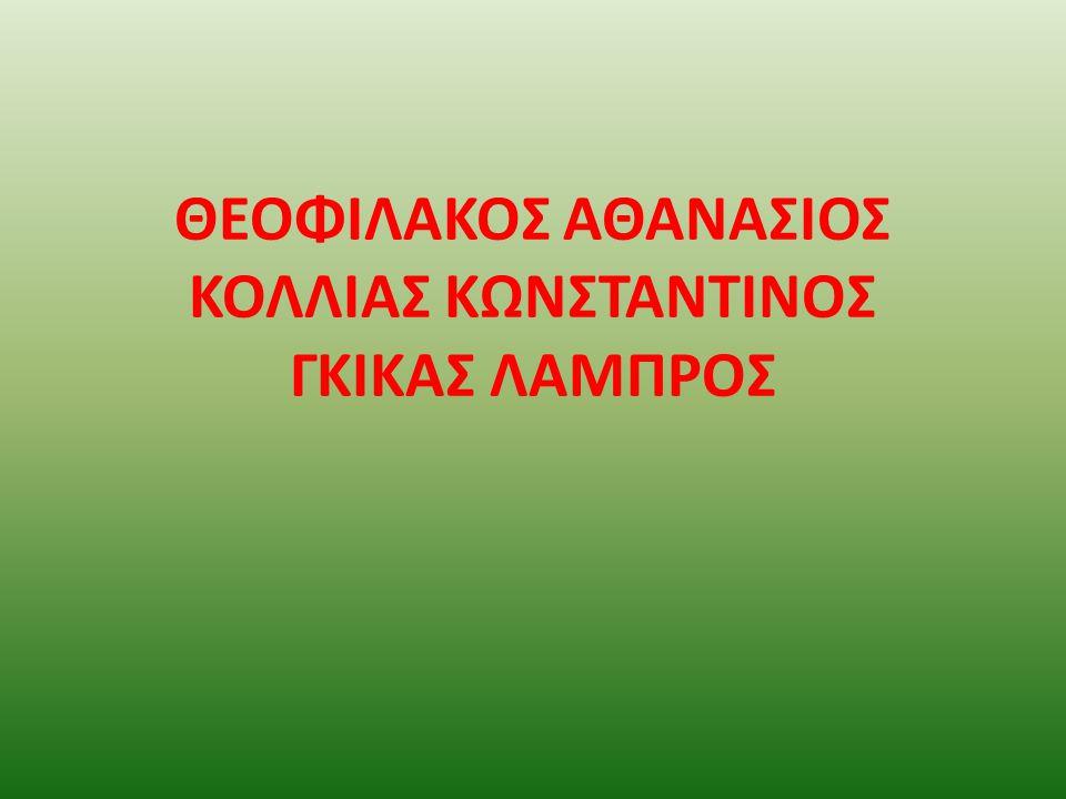 ΘΕΟΦΙΛΑΚΟΣ ΑΘΑΝΑΣΙΟΣ ΚΟΛΛΙΑΣ ΚΩΝΣΤΑΝΤΙΝΟΣ ΓΚΙΚΑΣ ΛΑΜΠΡΟΣ