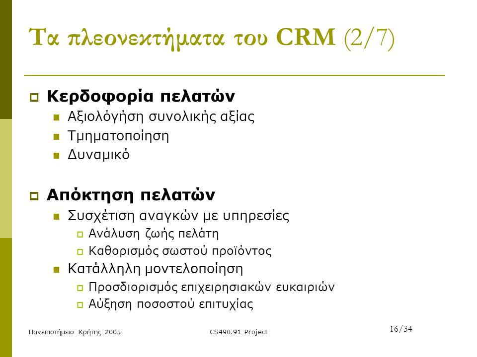 Τα πλεονεκτήματα του CRM (2/7)