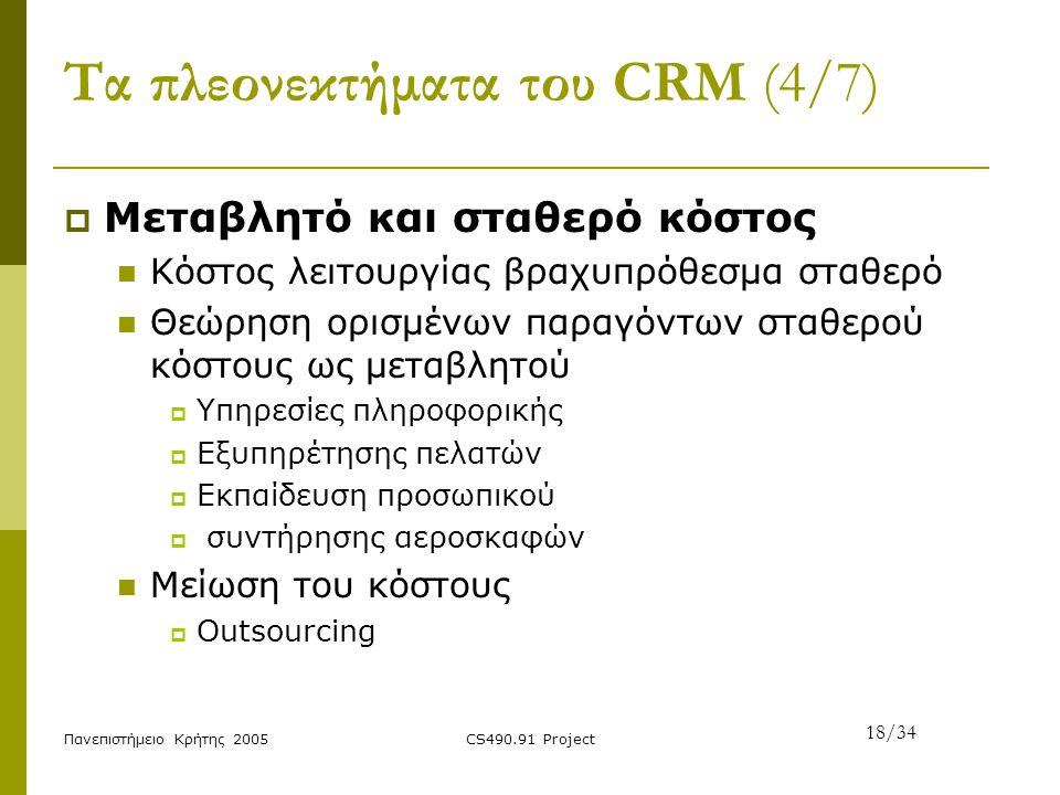 Τα πλεονεκτήματα του CRM (4/7)