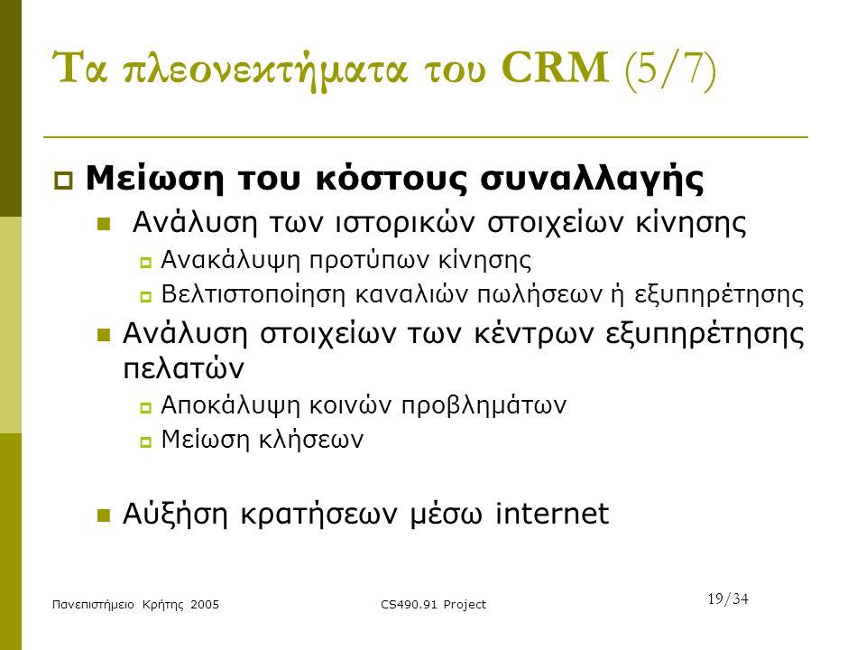 Τα πλεονεκτήματα του CRM (5/7)