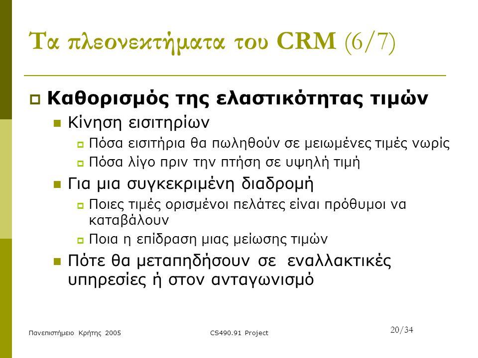Τα πλεονεκτήματα του CRM (6/7)