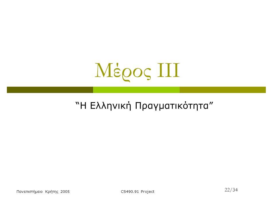 H Ελληνική Πραγματικότητα