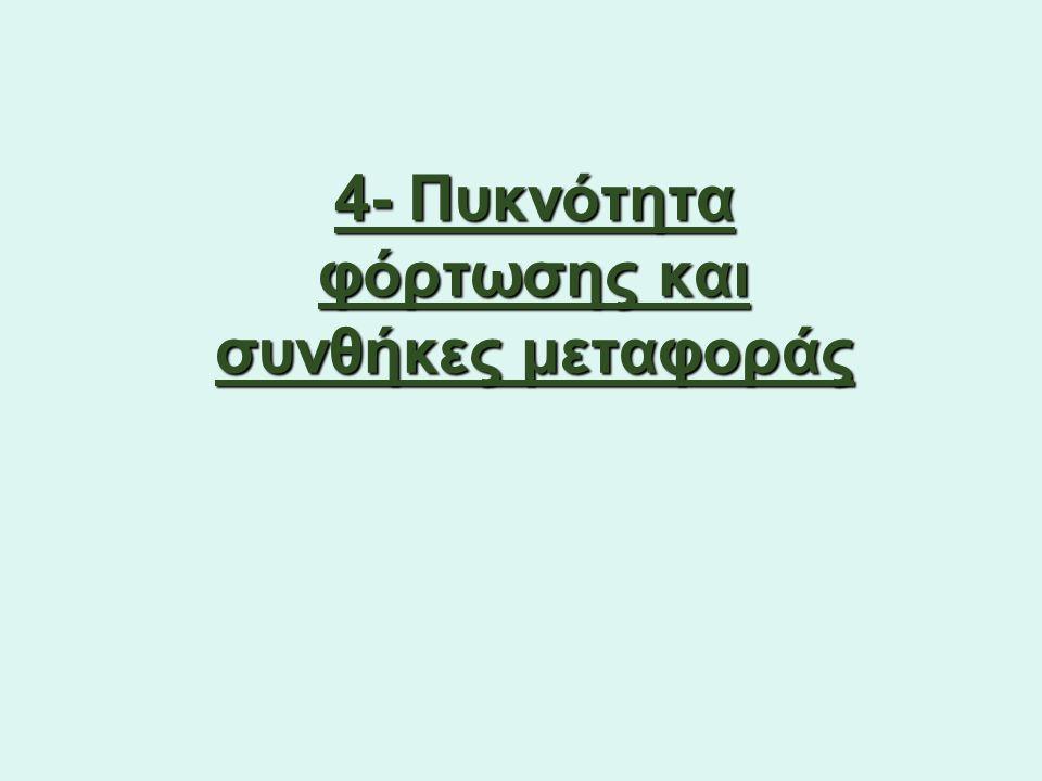 4- Πυκνότητα φόρτωσης και συνθήκες μεταφοράς
