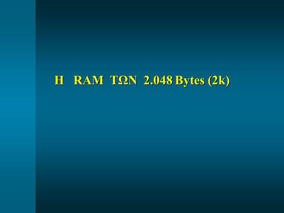 Η RAM ΤΩΝ 2.048 Bytes (2k)