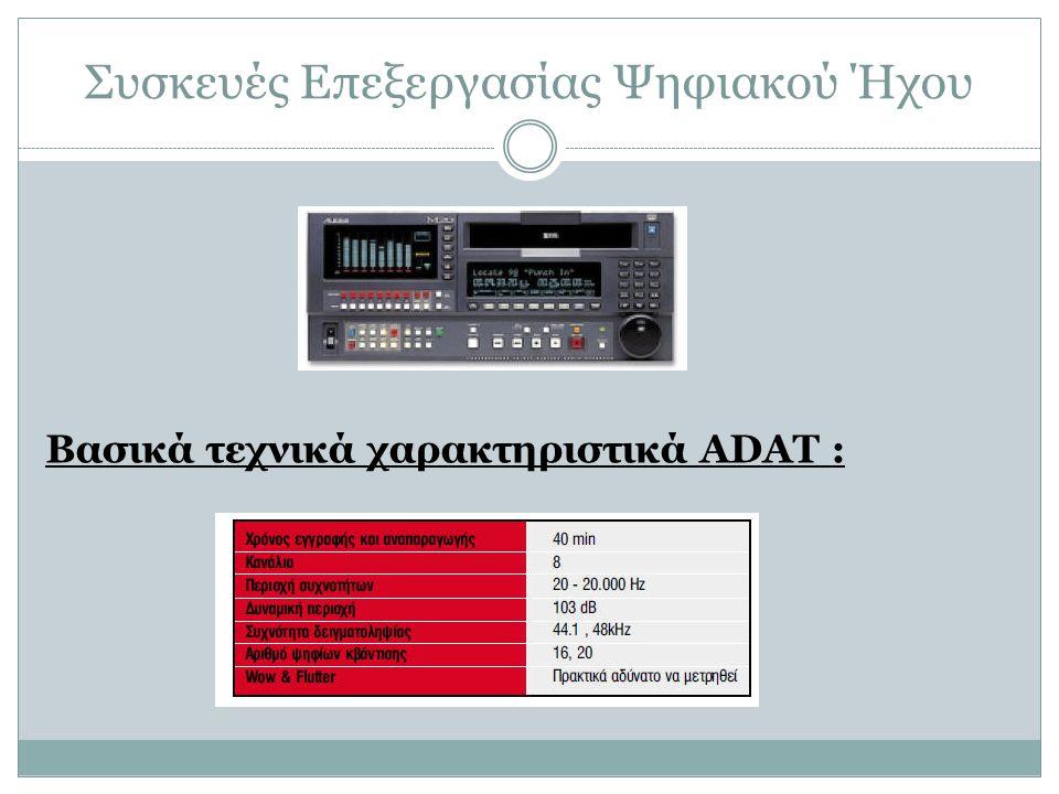 Συσκευές Επεξεργασίας Ψηφιακού Ήχου