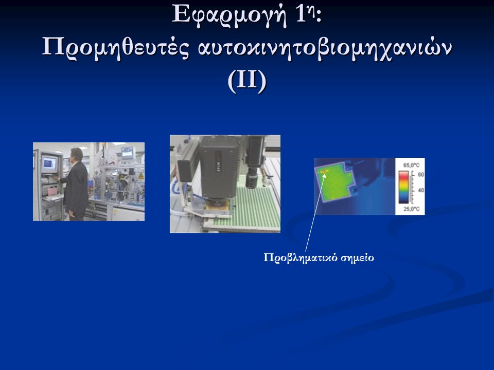 Εφαρμογή 1η: Προμηθευτές αυτοκινητοβιομηχανιών (ΙΙ)