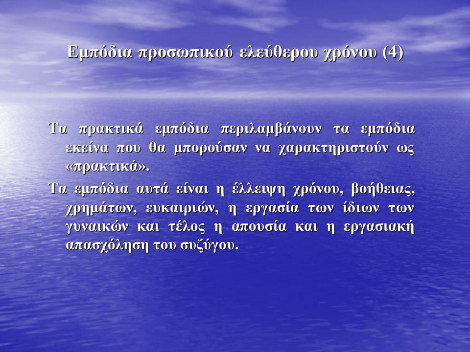 Εμπόδια προσωπικού ελεύθερου χρόνου (4)