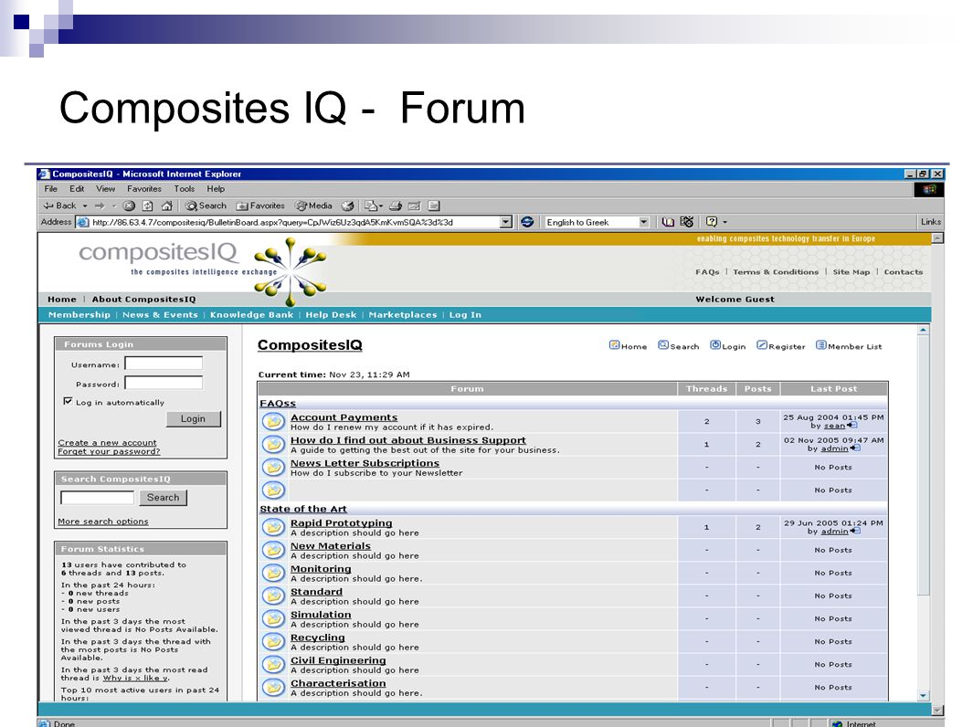 Composites IQ - Forum
