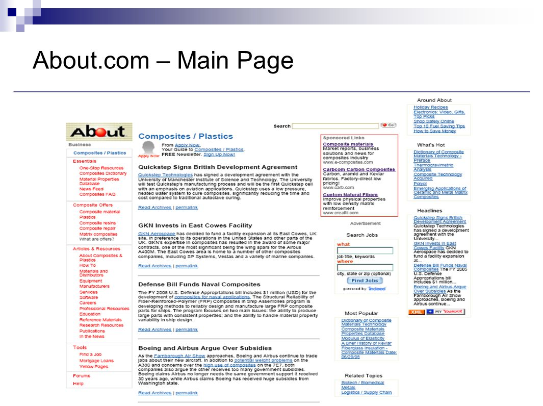 About.com – Main Page