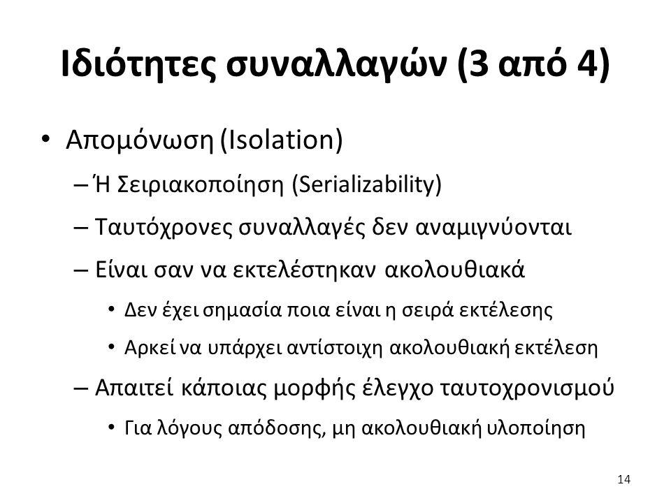 Ιδιότητες συναλλαγών (3 από 4)