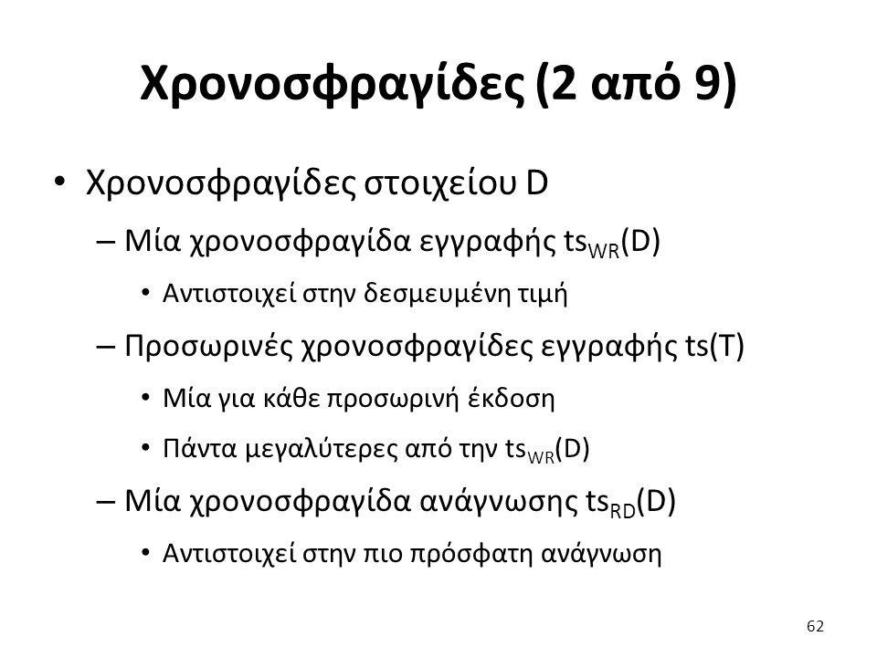 Χρονοσφραγίδες (2 από 9) Χρονοσφραγίδες στοιχείου D