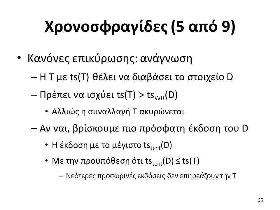 Χρονοσφραγίδες (5 από 9) Κανόνες επικύρωσης: ανάγνωση