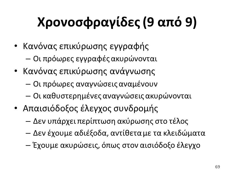 Χρονοσφραγίδες (9 από 9) Κανόνας επικύρωσης εγγραφής