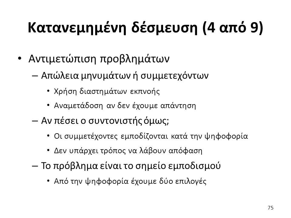 Κατανεμημένη δέσμευση (4 από 9)