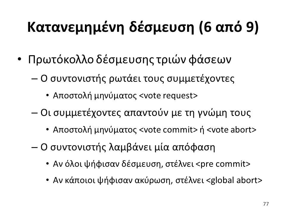 Κατανεμημένη δέσμευση (6 από 9)