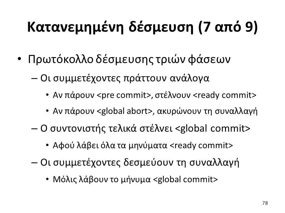 Κατανεμημένη δέσμευση (7 από 9)