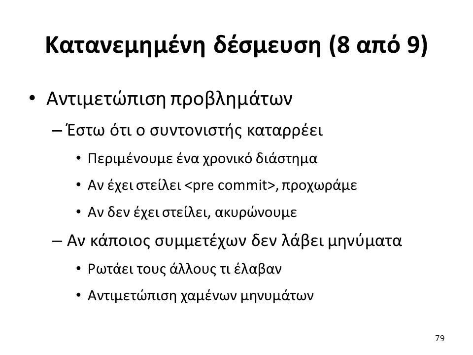 Κατανεμημένη δέσμευση (8 από 9)