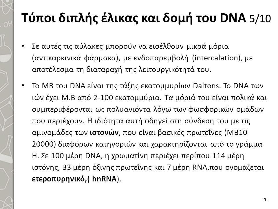 Τύποι διπλής έλικας και δομή του DNA 6/10
