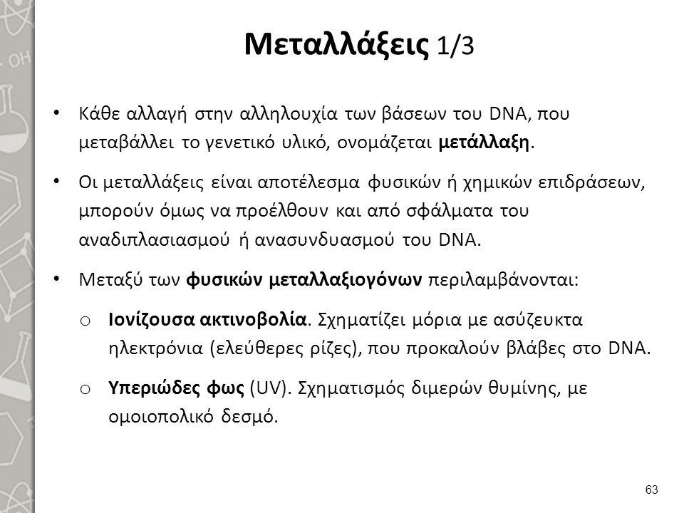 Μεταλλάξεις 2/3 Μεταξύ των χημικών: Νιτρώδες οξύ. Υδροξυλαμίνη.