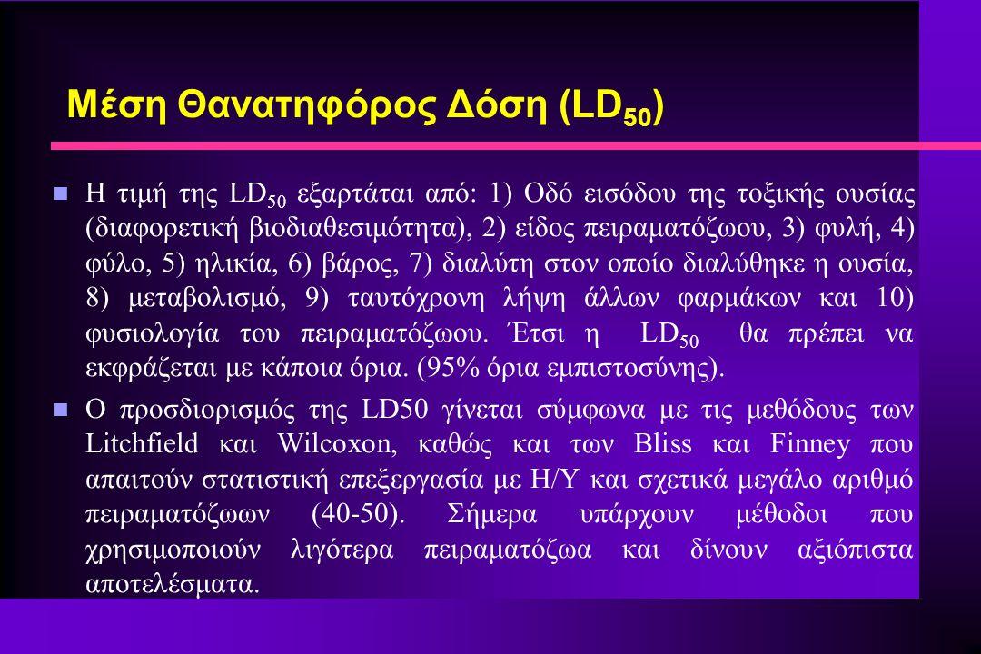 Μέση Θανατηφόρος Δόση (LD50)