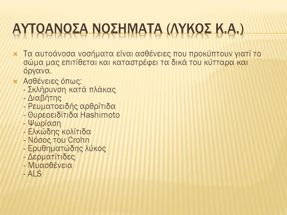 ΑΥΤΟΑΝΟΣΑ ΝΟΣΗΜΑΤΑ (ΛΥΚΟΣ κ.α.)
