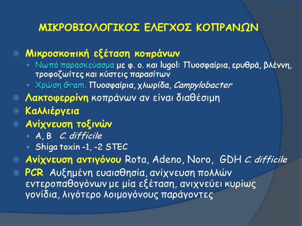ΜΙΚΡΟΒΙΟΛΟΓΙΚΟΣ ΕΛΕΓΧΟΣ ΚΟΠΡΑΝΩΝ