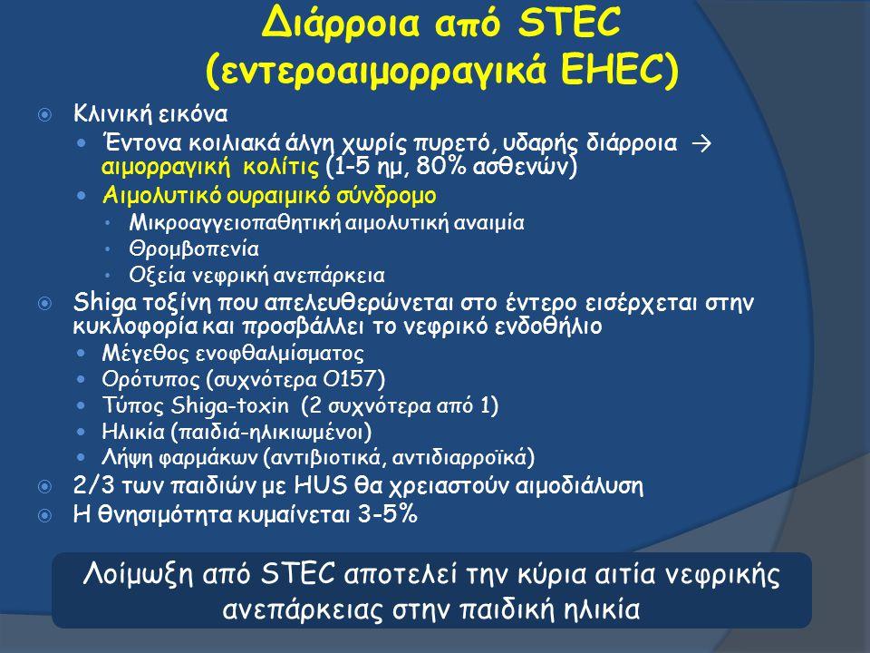 Διάρροια από STEC (εντεροαιμορραγικά EHEC)