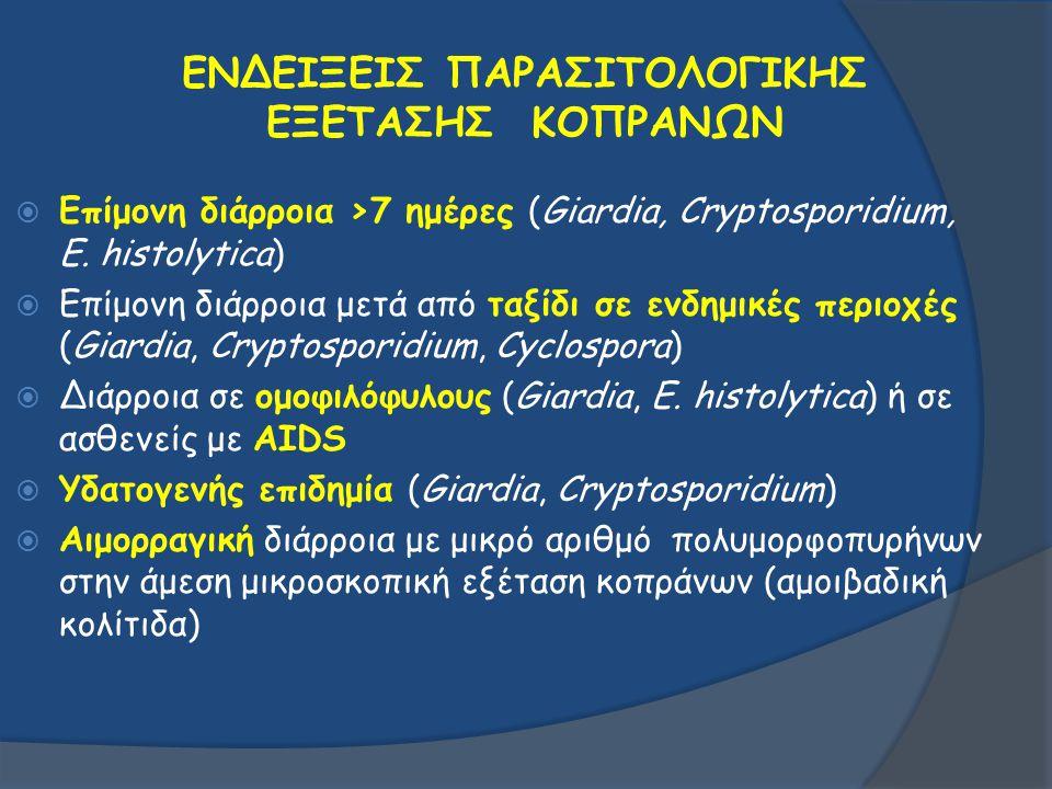 ΕΝΔΕΙΞΕΙΣ ΠΑΡΑΣΙΤΟΛΟΓΙΚΗΣ ΕΞΕΤΑΣΗΣ ΚΟΠΡΑΝΩΝ