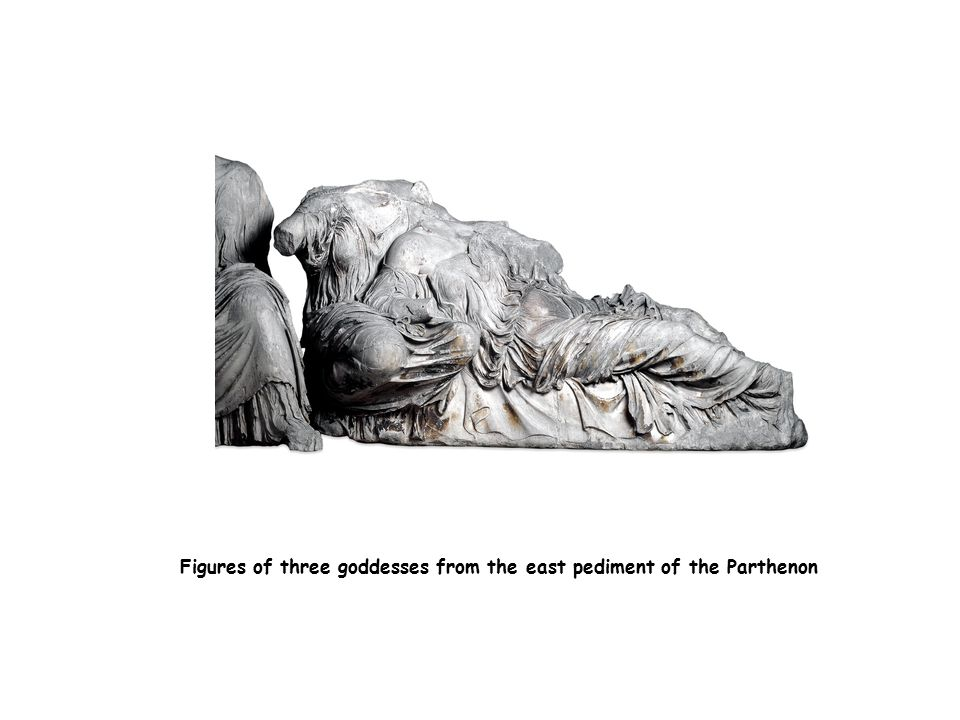 Figures of three goddesses from the east pediment of the Parthenon